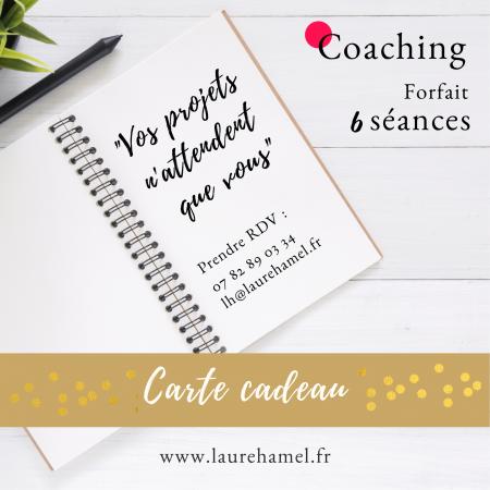 carte cadeau coaching 6 seances